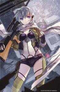 Rating: Safe Score: 101 Tags: bikini_armor gun gun_gale_online sinon swd3e2 sword_art_online thighhighs User: blooregardo