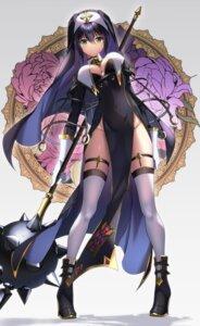 Rating: Questionable Score: 38 Tags: fujiya_takao garter heels no_bra nopan nun stockings thighhighs weapon User: BattlequeenYume