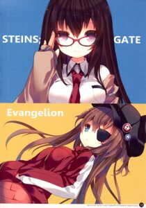 Rating: Safe Score: 32 Tags: bodysuit crossover eyepatch makise_kurisu megane neon_genesis_evangelion p19 seifuku souryuu_asuka_langley steins;gate User: charunetra