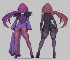 Rating: Explicit Score: 27 Tags: armor ass aster_crowley bodysuit cameltoe dress fate/grand_order heels pantyhose scathach_(fate/grand_order) scathach_skadi skirt_lift User: Mr_GT