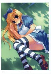 Rating: Questionable Score: 38 Tags: alice alice_in_wonderland kiba_satoshi pantsu thighhighs User: crim