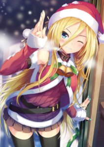 Rating: Safe Score: 120 Tags: christmas daidou lily_(vocaloid) thighhighs vocaloid User: donicila