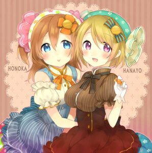 Rating: Safe Score: 32 Tags: dress kakizato_shinano koizumi_hanayo kousaka_honoka love_live! User: charunetra