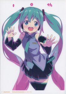 Rating: Safe Score: 22 Tags: hatsune_miku kanzaki_hiro tabgraphics thighhighs vocaloid User: Radioactive