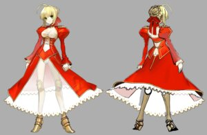 Rating: Questionable Score: 18 Tags: armor ass character_design cleavage dress fate/extra fate/stay_night heels pantsu saber_extra see_through wada_rco User: Yokaiou