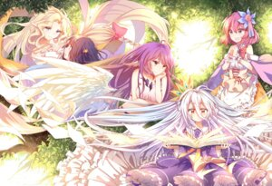 Rating: Safe Score: 52 Tags: 3000kojun dress feel_nilvalen jibril_(no_game_no_life) kuramii_tseru no_game_no_life pointy_ears shiro_(no_game_no_life) stephanie_dora wings User: zero|fade