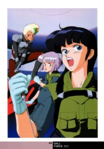 Rating: Safe Score: 2 Tags: armor bodysuit catty gall_force gun lufy shildy sonoda_kenichi sword User: Radioactive