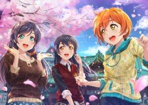 Rating: Safe Score: 16 Tags: hoshizora_rin love_live! shamakho sonoda_umi sweater toujou_nozomi User: Arsy