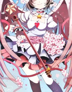 Rating: Safe Score: 17 Tags: card_captor_sakura cleavage dress fumiko_(miruyuana) kinomoto_sakura weapon wings User: charunetra