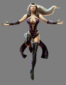 Rating: Questionable Score: 9 Tags: cg cleavage heels leotard mortal_kombat mortal_kombat_(2011) no_bra sindel thighhighs transparent_png User: Yokaiou