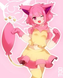 Rating: Safe Score: 48 Tags: animal_ears anthropomorphization nekomimi pokemon skitty tail takeshima_(nia) thighhighs User: charunetra