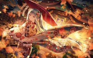 Rating: Safe Score: 84 Tags: hatsune_miku japanese_clothes junpaku_karen umbrella vocaloid User: BattlequeenYume