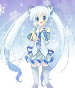 Rating: Safe Score: 47 Tags: hatsune_miku lucie thighhighs vocaloid yoshimi_takumi yuki_miku User: Radioactive