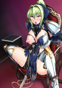 Rating: Explicit Score: 57 Tags: 8000 armor bondage breasts cum nipples no_bra sword thighhighs torn_clothes User: Mr_GT