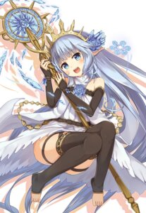 Rating: Safe Score: 83 Tags: dress granblue_fantasy lily_(granblue_fantasy) pointy_ears ruma_imaginary thighhighs weapon User: Mr_GT