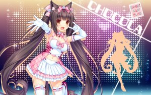 Rating: Safe Score: 64 Tags: animal_ears chocolat cleavage heels neko_para nekomimi sayori silhouette tail thighhighs wallpaper User: Mr_GT