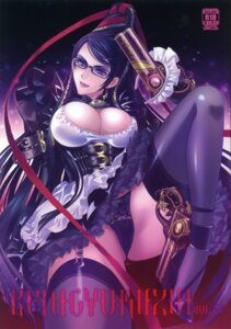 Rating: Questionable Score: 53 Tags: bayonetta bayonetta_(character) carnelian cleavage garter_belt gun heels megane pantsu scanning_dust stockings thighhighs User: fireattack