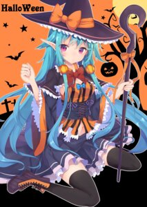Rating: Safe Score: 47 Tags: abusoru cleavage halloween pointy_ears thighhighs witch User: KazukiNanako