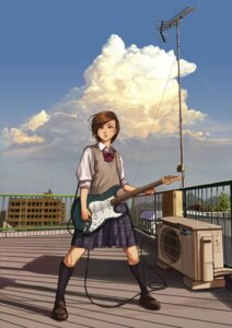 Rating: Safe Score: 5 Tags: guitar seifuku sweater tagme User: saemonnokami