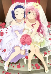Rating: Safe Score: 90 Tags: cleavage dress lala_satalin_deviluke sairenji_haruna to_love_ru tsurukubo_hisako wedding_dress User: YamatoBomber