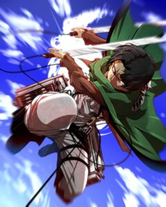 Rating: Safe Score: 11 Tags: jin_(artist) levi male shingeki_no_kyojin sword User: 绫城幻雪
