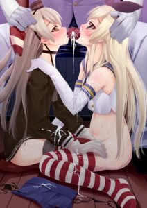 Rating: Explicit Score: 17 Tags: admiral_(kancolle) amatsukaze_(kancolle) bottomless cum fellatio kantai_collection penis puroheshi shimakaze_(kancolle) thighhighs User: Mr_GT