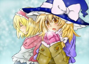 Rating: Safe Score: 3 Tags: alice_margatroid kirisame_marisa popoin touhou User: bagels