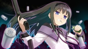 Rating: Safe Score: 15 Tags: akemi_homura gun puella_magi_madoka_magica youkan User: SubaruSumeragi