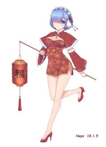 Rating: Safe Score: 35 Tags: chinadress cleavage heels neps-l re_zero_kara_hajimeru_isekai_seikatsu rem_(re_zero) User: Mr_GT