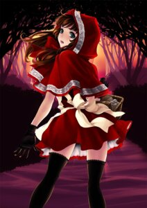 Rating: Safe Score: 24 Tags: kunishige_keiichi little_red_riding_hood_(character) thighhighs User: cheese