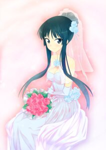 Rating: Safe Score: 20 Tags: akiyama_mio cleavage dress k-on! wedding_dress zpolice User: Onpu