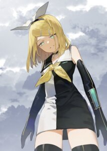 Rating: Safe Score: 20 Tags: dress kagamine_rin thighhighs vocaloid yamada_ichi User: Mr_GT