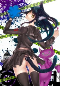 Rating: Questionable Score: 26 Tags: animal_ears nekomimi pantsu seifuku tail tcb thighhighs User: Radioactive