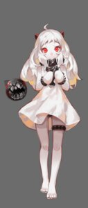 Rating: Safe Score: 41 Tags: dress feet garter horns kantai_collection mixke northern_ocean_hime pantsu User: Mr_GT