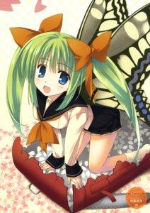 Rating: Safe Score: 1 Tags: nakajou_kagetsu seifuku tagme wings User: fireattack