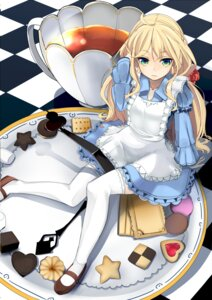 Rating: Safe Score: 69 Tags: alice_in_wonderland baicha dress thighhighs User: KazukiNanako