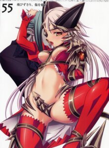 Rating: Questionable Score: 26 Tags: aldra armor delmore devil eyepatch horns kantaka maebari queen's_blade thighhighs underboob User: admin2