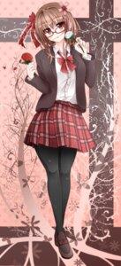 Rating: Safe Score: 26 Tags: amatsuki_hotaru megane pantyhose seifuku User: Nekotsúh