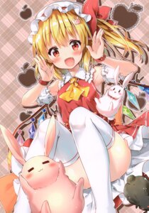Rating: Safe Score: 48 Tags: eterna-radiare flandre_scarlet riichu skirt_lift thighhighs touhou wings User: kiyoe