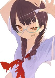 Rating: Safe Score: 37 Tags: bandaid eyepatch megane noco seifuku torn_clothes User: Radioactive