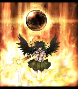 Rating: Safe Score: 12 Tags: neota reiuji_utsuho sword touhou wings User: charunetra
