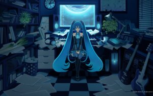 Rating: Safe Score: 17 Tags: hatsune_miku inago thighhighs vocaloid wallpaper User: charunetra