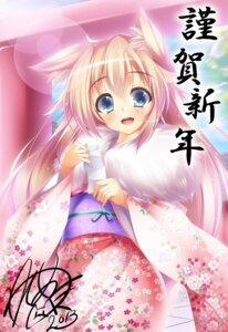 Rating: Safe Score: 25 Tags: animal_ears izayoi_kaname kimono User: blooregardo