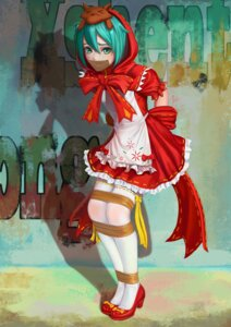 Rating: Safe Score: 31 Tags: bondage cosplay dress hatsune_miku heels little_red_riding_hood_(character) shikozo_senzaki thighhighs vocaloid User: Mr_GT