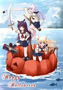 Rating: Safe Score: 12 Tags: animal_ears halloween minami_suzaku nekomimi seifuku User: aihost