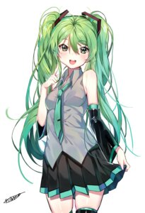 Rating: Safe Score: 49 Tags: autographed dr_poapo hatsune_miku skirt_lift thighhighs vocaloid User: charunetra