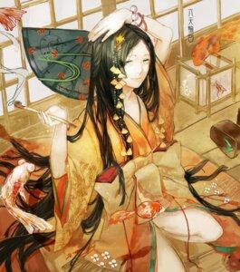 Rating: Safe Score: 9 Tags: cleavage kimono nibanmachi_wakai User: charunetra