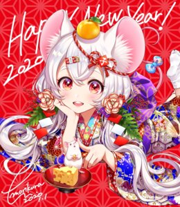 Rating: Safe Score: 22 Tags: animal_ears kimono morikura_en tail User: Mr_GT
