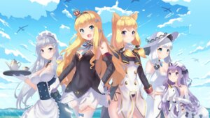 Rating: Safe Score: 37 Tags: animal_ears azur_lane belfast_(azur_lane) cleavage dress holmemee illustrious_(azur_lane) maid pantsu queen_elizabeth_(azur_lane) string_panties thighhighs unicorn_(azur_lane) uniform warspite_(azur_lane) User: Mr_GT
