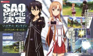 Rating: Safe Score: 27 Tags: adachi_shingo asuna_(sword_art_online) kirito sword sword_art_online thighhighs User: PPV10